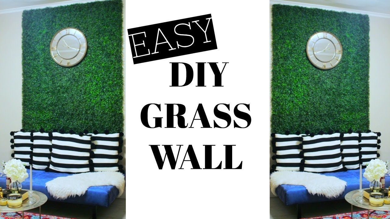 EASY DIY FAUX GRASS WALL ⎮ GLAM UP ANY ROOM Diy living