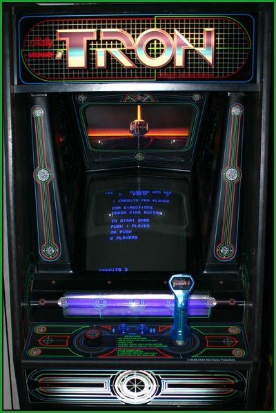 Tron Arcade Videogame Just Like Speeding On Light Cycles Minus