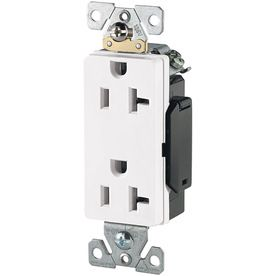 6 26 Cooper Wiring Devices 125 Volt 20 Amp White Decorator Duplex Electrical Outlet Lowes Home Improvements Electricity Electrical Outlets