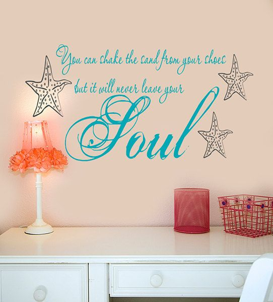 Beach Wall Decals Decor You Can Shake The Sand From Your SHoes - Wall decals beach quotes