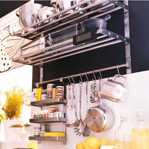 I Want Ikea Grundtal Kitchen Shelf Spice Rack Set Stainless Steel