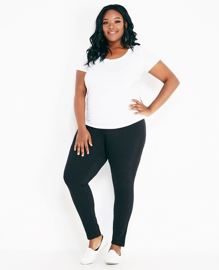 Plus Size Solid Yoga Pants With Fold Over Waistband Wet