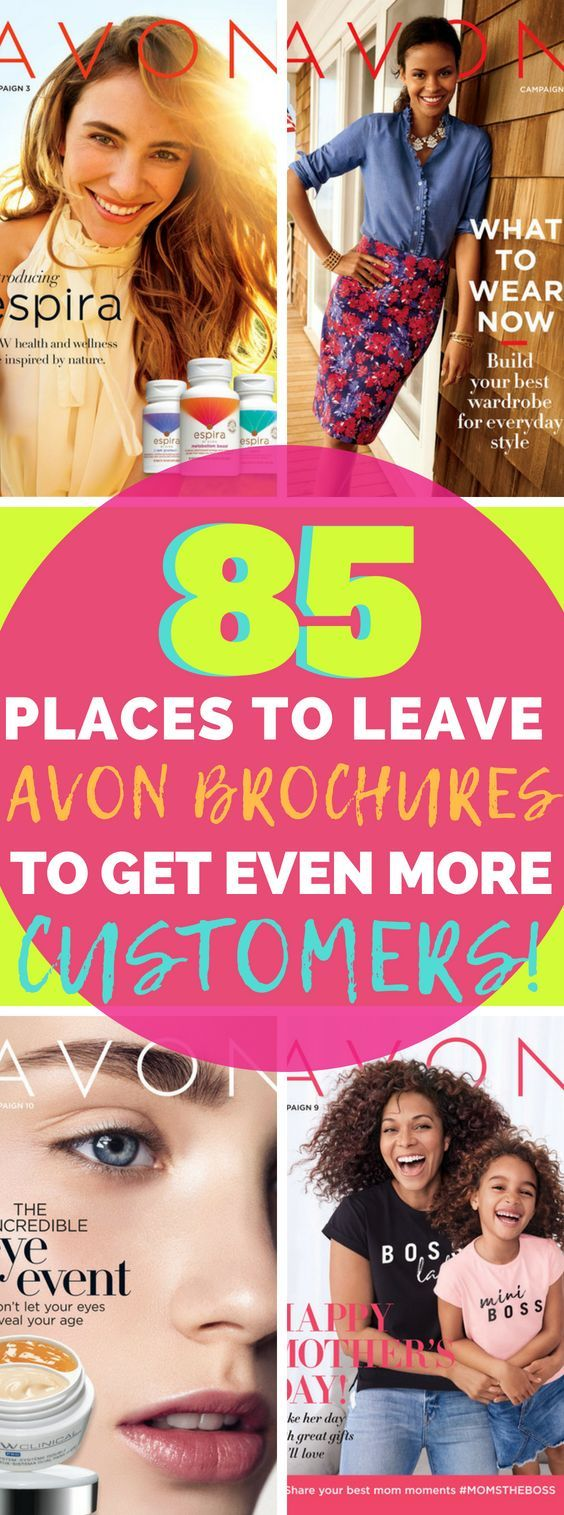 85 Places To Leave Avon Brochures Where To Leave Avon Catalogs And