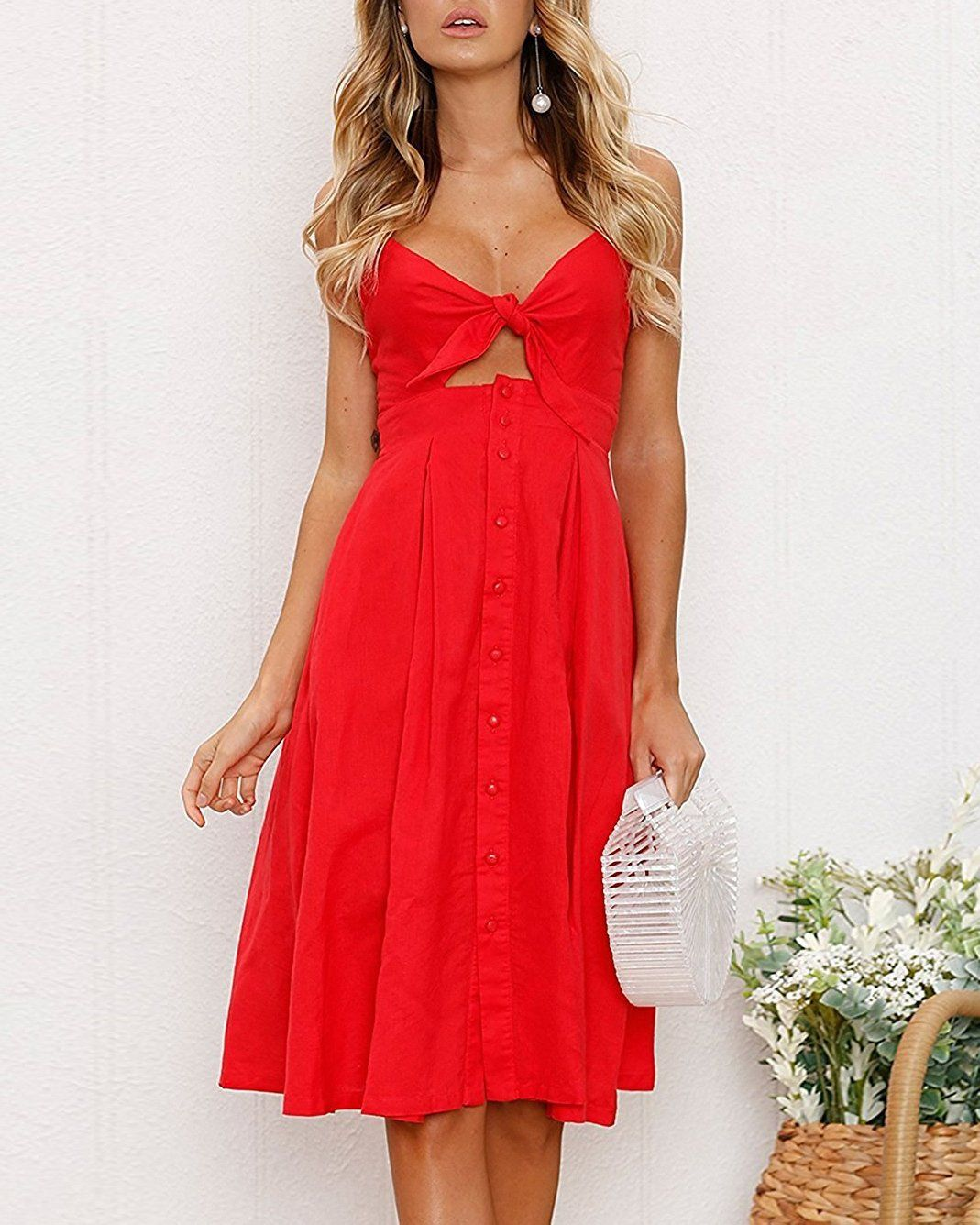 Over the rainbow red cut out dress dresses flirtyfull