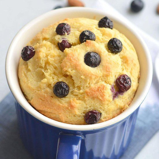 Blueberry Lemon Mug Cake Recipe   Keto blueberry muffins ...