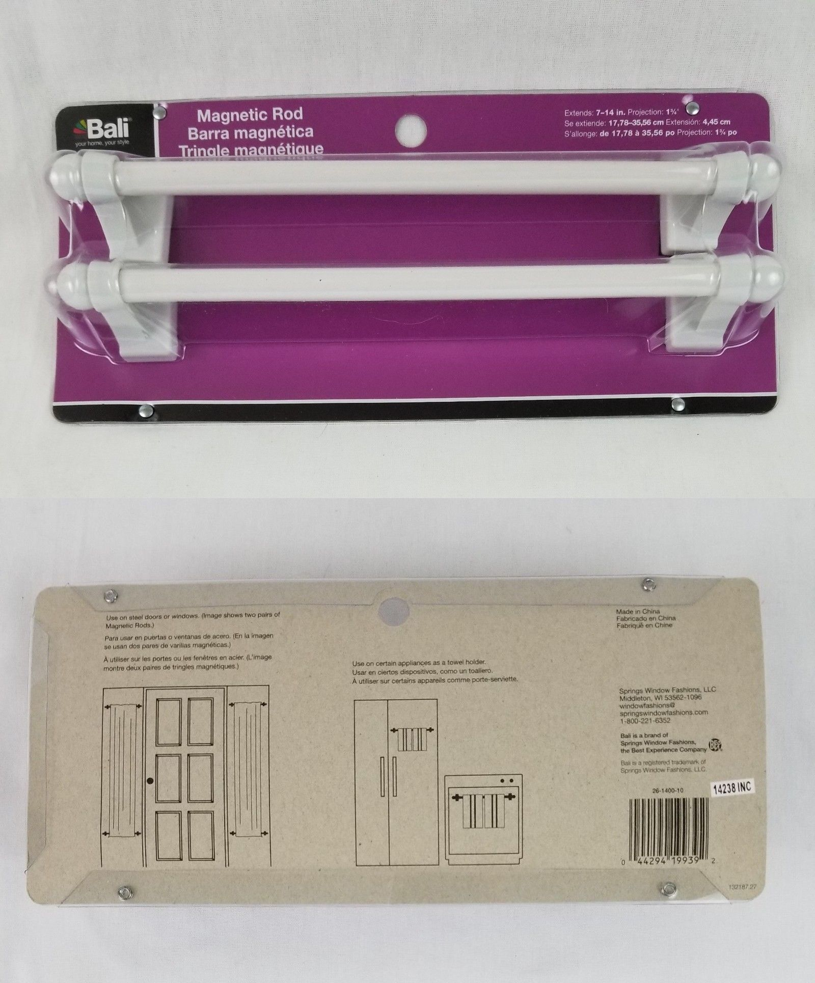 Curtain Rods And Finials 103459 Bali Blinds Magnetic Rod 7 14