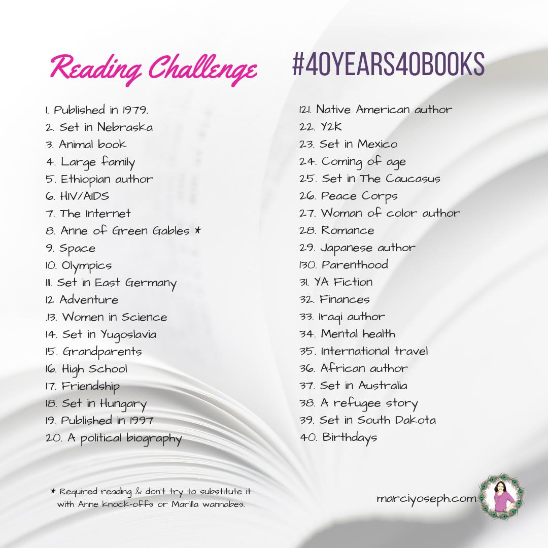 40th Birthday Reading Challenge