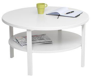 Konferenčný stolík SKIBBY Ø80cm biela | JYSK