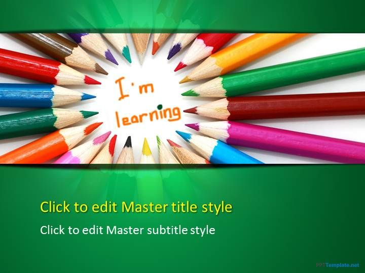 Free Color Pencil PPT Template Projects to Try Pinterest Ppt