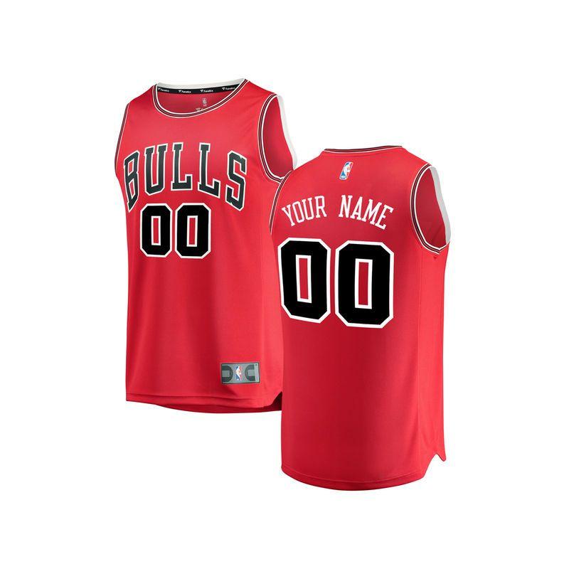 Chicago Bulls Fanatics Branded Youth Fast Break Custom Replica Jersey Red - Icon  Edition ed32c99cb