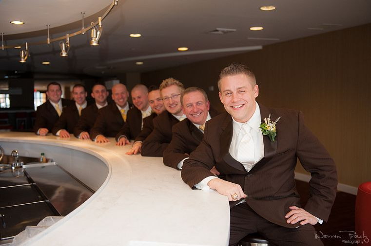 Cute Groomsmen Pose! | Warren Prouty Photography, New Hampshire Wedding Photographer
