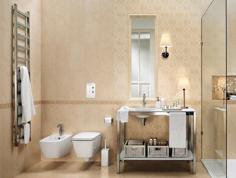 Azulejos para baños modernos - cien ideas geniales | Color beige ...