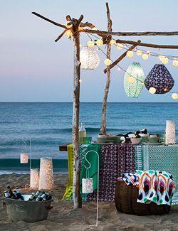 Tuindecoratie Sfeerverlichting Strand Strand Feest Tuinfeest Tuin