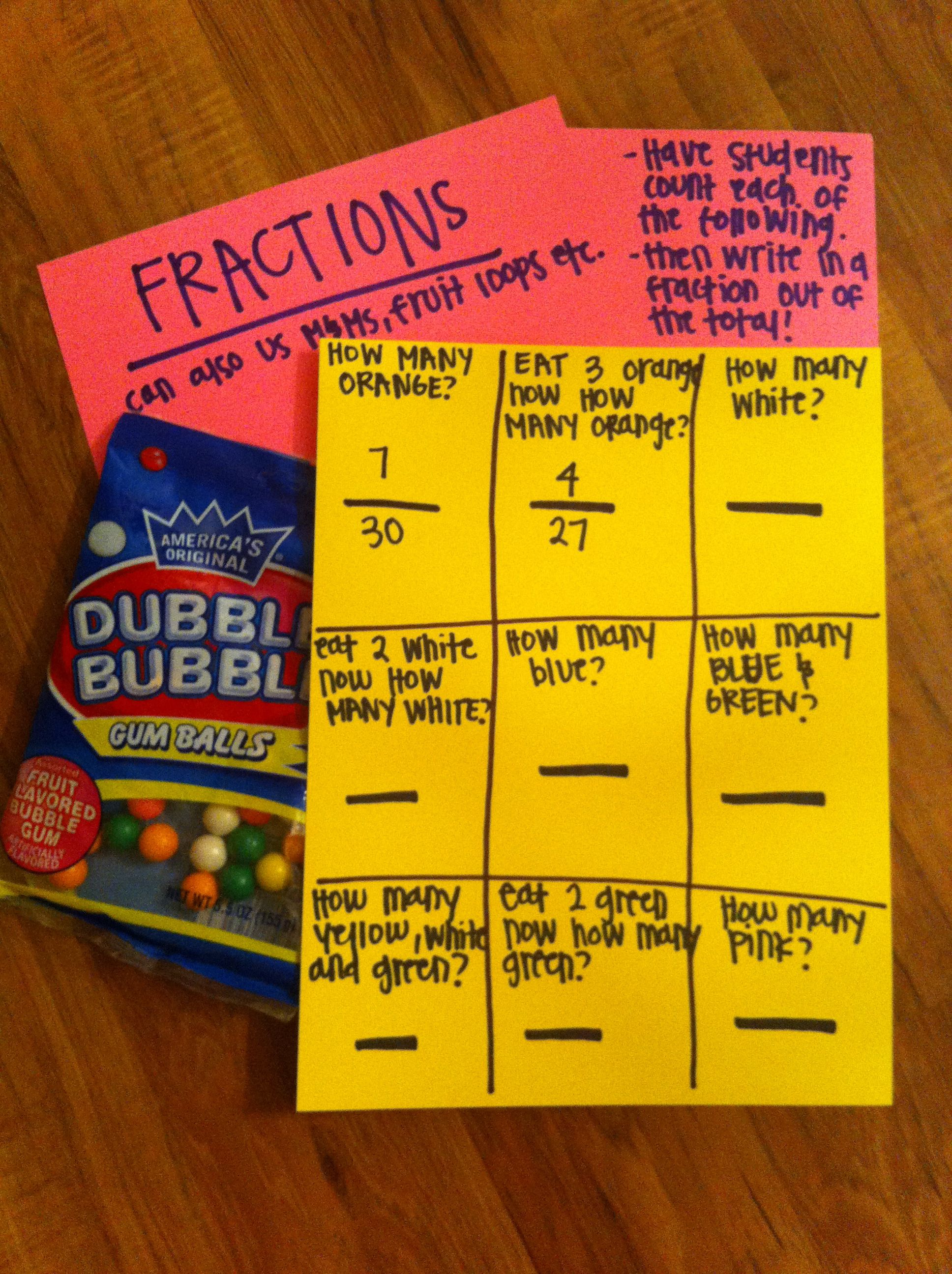 My Own Pin Fraction Activity For Fourth Grade