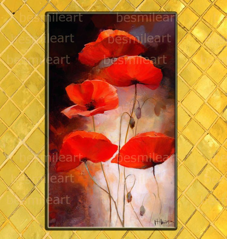 Handpainted red poppy flower oil painting on canvas abstract red handpainted red poppy flower oil painting on canvas abstract red poppy oil painting on canvas mightylinksfo