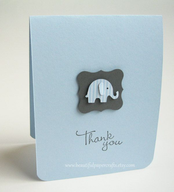 Thank You Baby Elephant Cards | Baby Shower cards | Elephant Baby ...