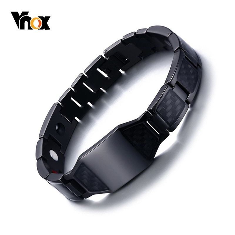 Stylish Men's Carbon Fiber Bio Energy Bracelets Health Magnetic Link Chain Bracelets Bangles Perfect Gifts Accessories #stylishmen