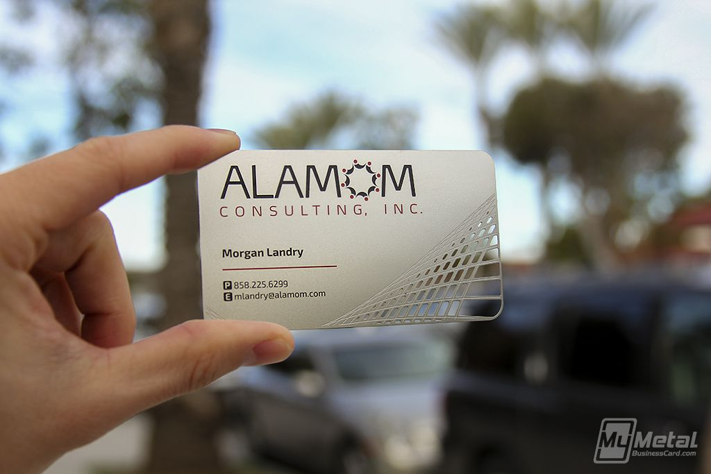 Heres A Unique Metalbusinesscard With Their Custom Cutouts And