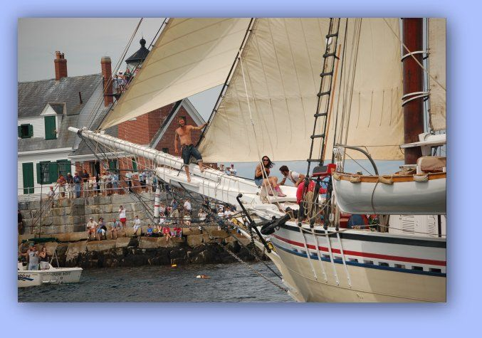 Windjammer Parade by the Rockland Breakwater Lighthouse
