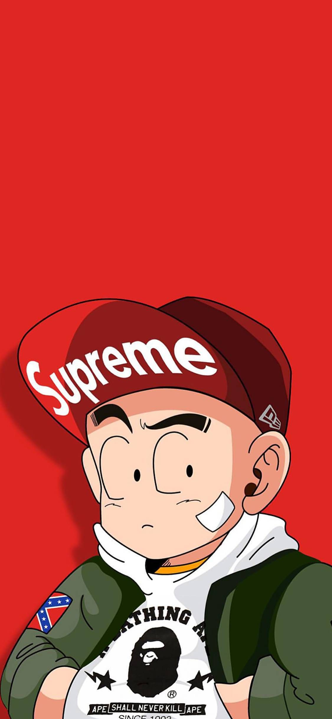 Long Zhu Exceeds Fashionable Current Flow To Paint Caricature Supreme Red Wallpapers For I Supreme Iphone Wallpaper Goku Wallpaper Iphone Kaws Iphone Wallpaper