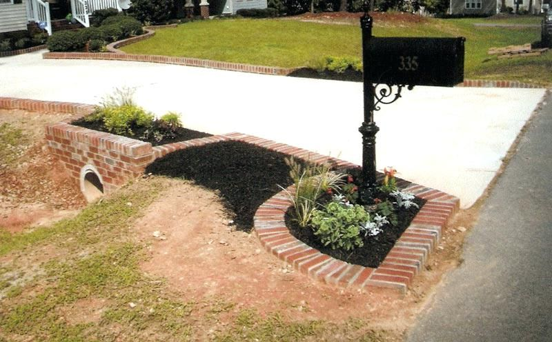 End Of Driveway Landscape Ideas Landscaping Ideas Around Culvert