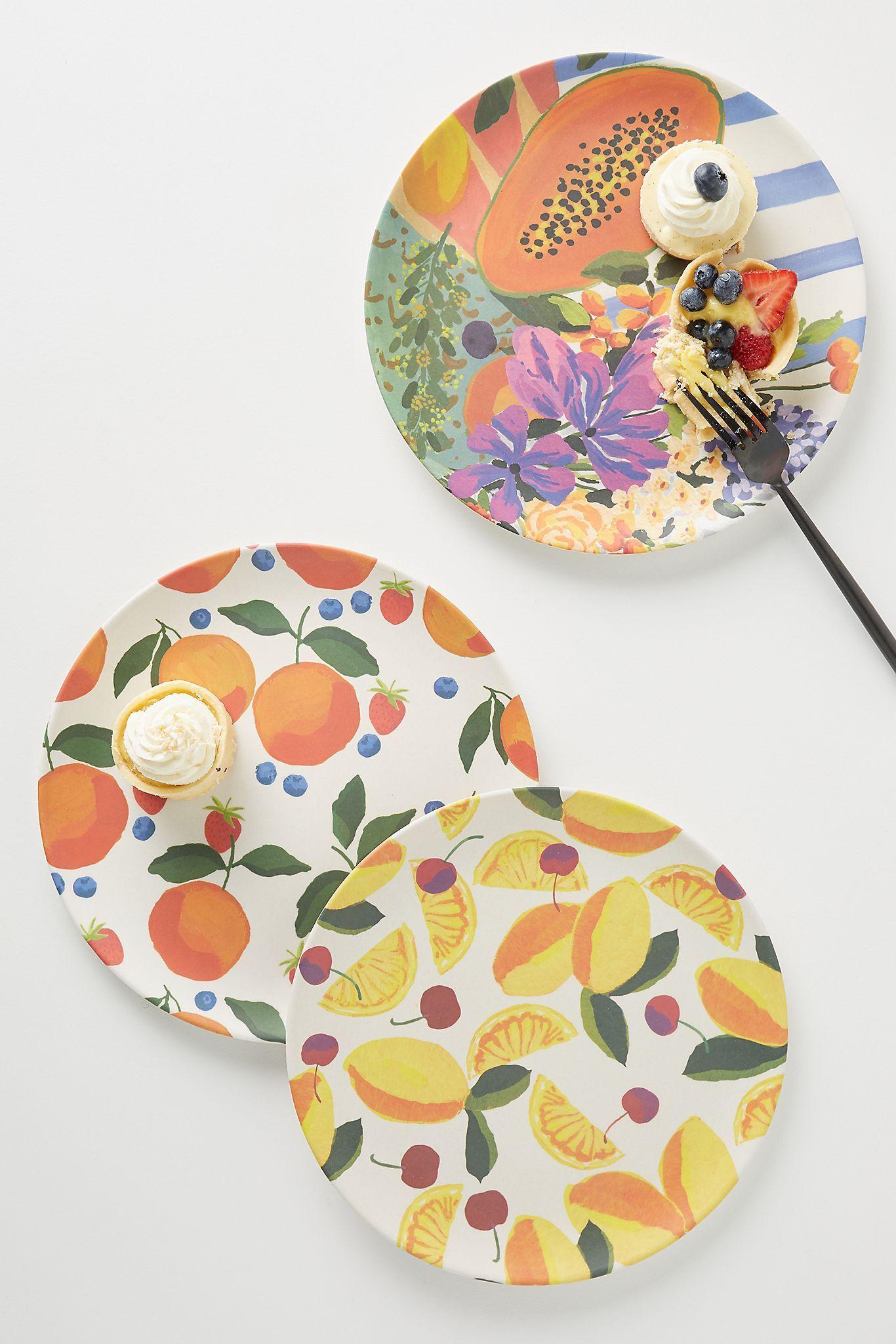 Market Bamboo Melamine Dinner Plate In 2020 Melamine Dinner Plates Colorful Plate Dinner Plates