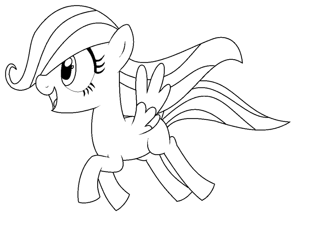 My Little Pony Fluttershy Filly Coloring Pages Sketch