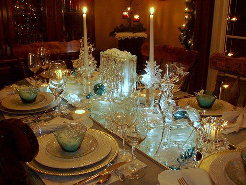Pretty winter table.