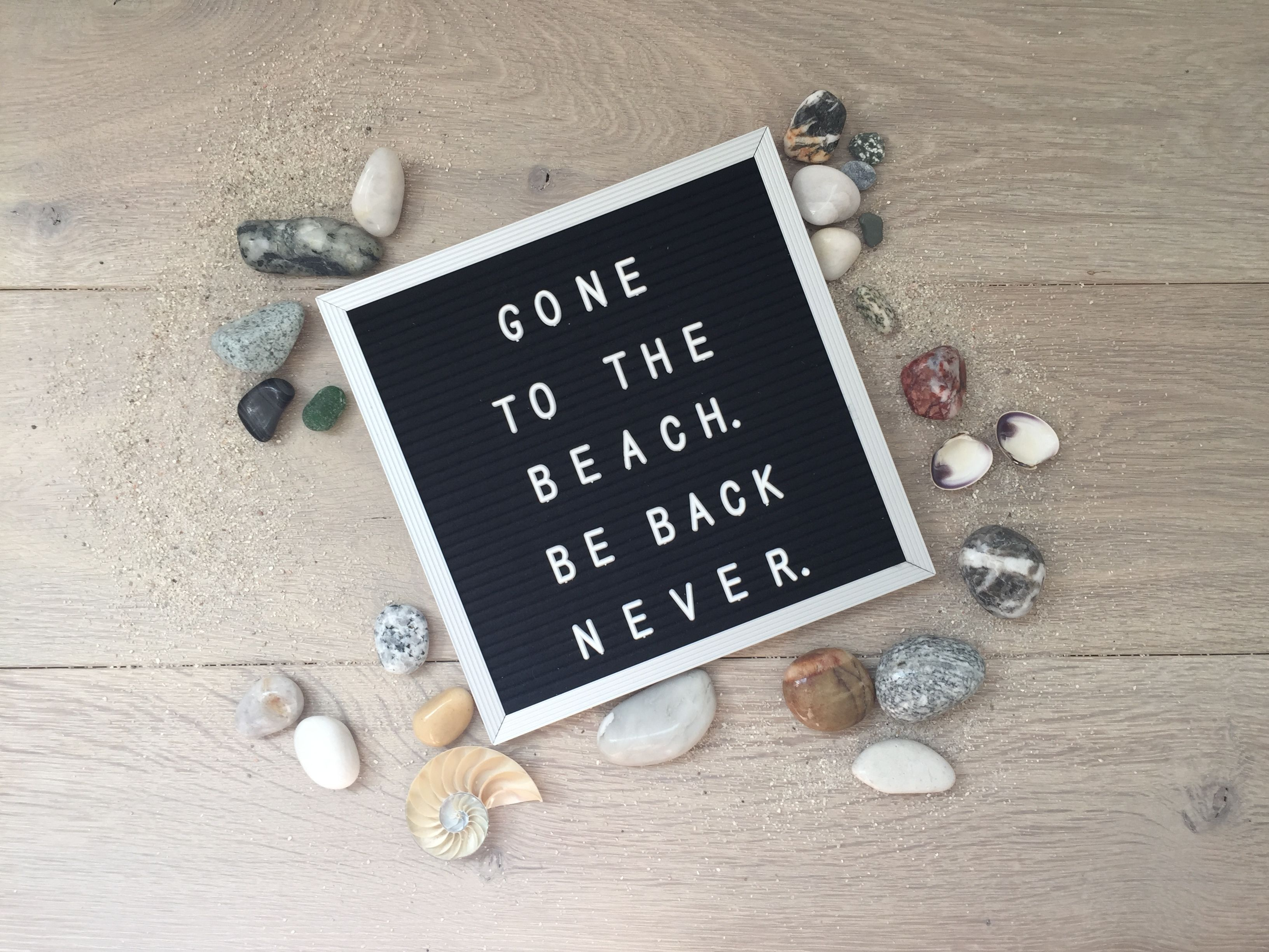 Gone To The Beach Be Back Never Beach Quotes Message Board Quotes Letterboard Signs