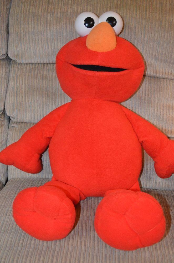 "Jumbo 30"" Sesame Street Elmo Plush Stuffed Animal   | eBay"