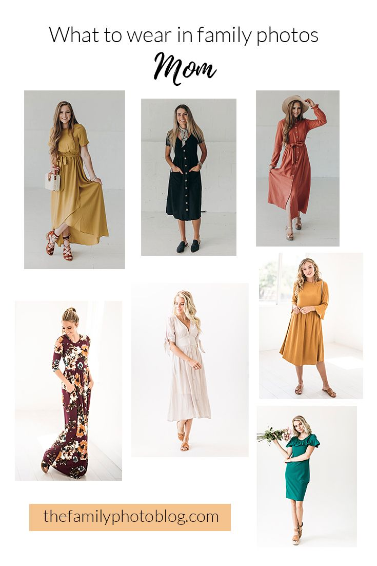Moms! What to wear in family photos. Treat yourself to a new dress for family photos! The Family Photo Blog.