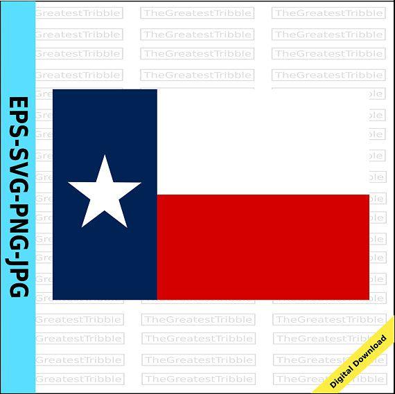 Texas State Flag Eps Svg Png Jpg Vector Graphic Clip Art Us Etsy Texas State Flag State Flags Clip Art