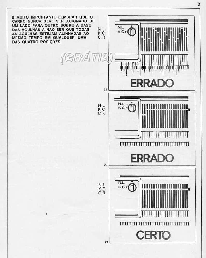 MANUAL GRATUITO DA MÁQUINA DE TRICO ELGIN-BROTHER 840 em
