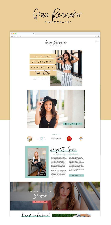 Nicole Showit Template   Elizabeth McCravy Shop   Showit Website Templates and Themes, Showit Templates for Female Entrepreneurs and Coaches
