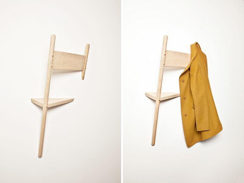Mobili coincasa ~ Wallhax coat hanger by geof ramsay at designboom mart toronto