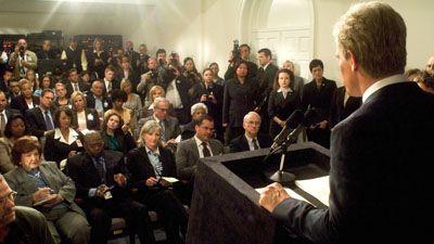 W Film - White House Press Room