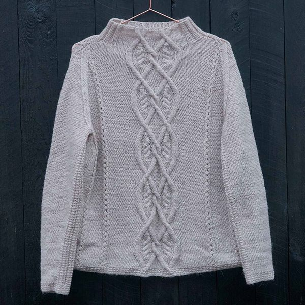 aran sweater strikkeopskrift