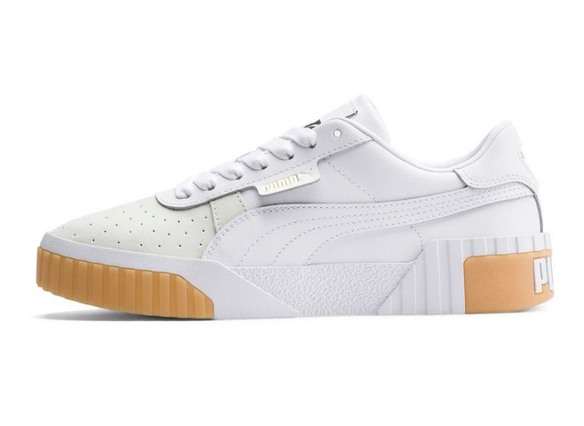 Puma Cali Exotic Blanc Et Beige Femme pas cher Achat