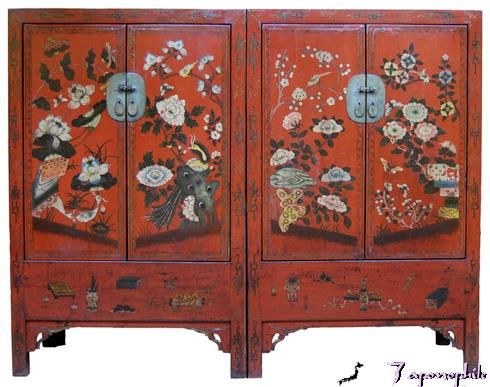 antique furniture red asian style | ... Chinese antique red lacquer cabinets  shown above - Antique Furniture Red Asian Style Chinese Antique Red Lacquer