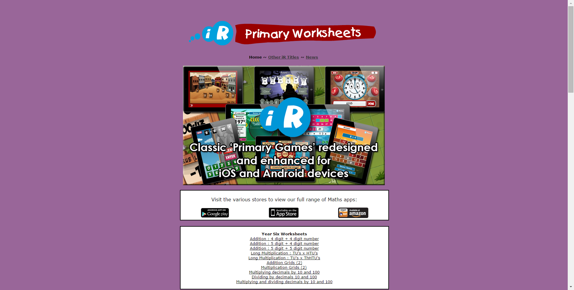 Primary Worksheets