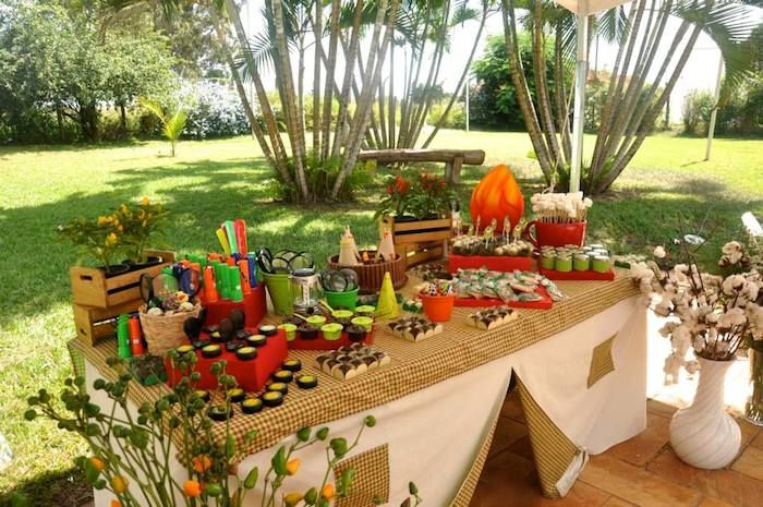 Outdoor Adventure Themed Birthday Party Planning Ideas Decor