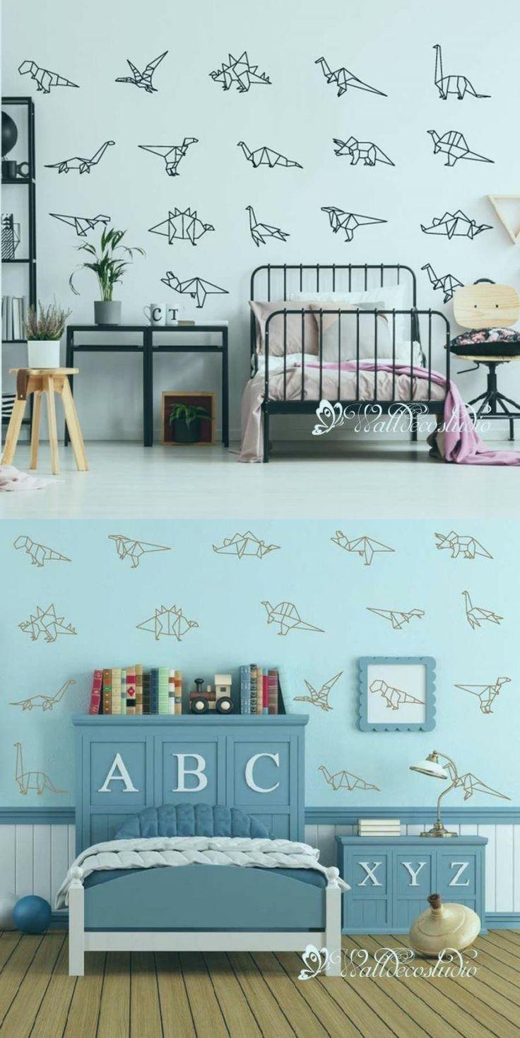 Photo of Dinosaurs Collection Wall Sticker-Origami Dinosaurs Nursery Decal Art-Geometric …,  #ArtGeo…