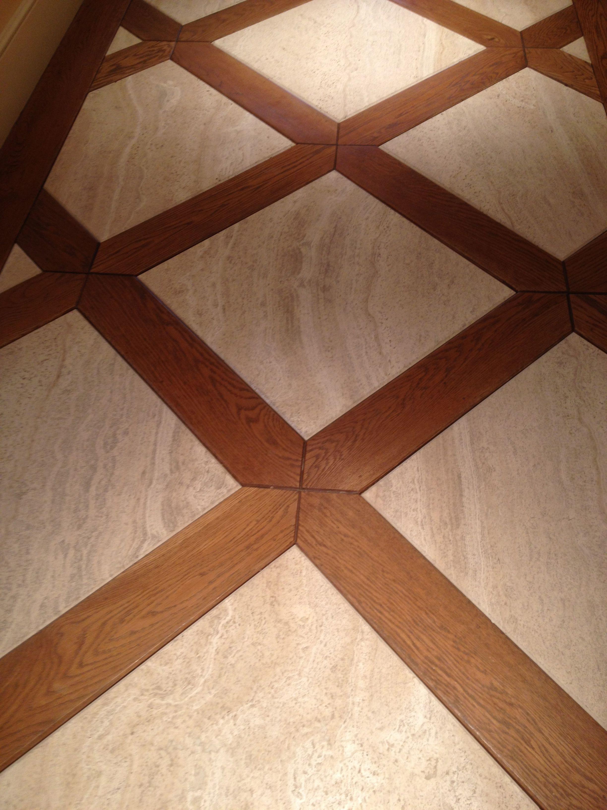 Wood and travertine floor for entryway flooring pinterest