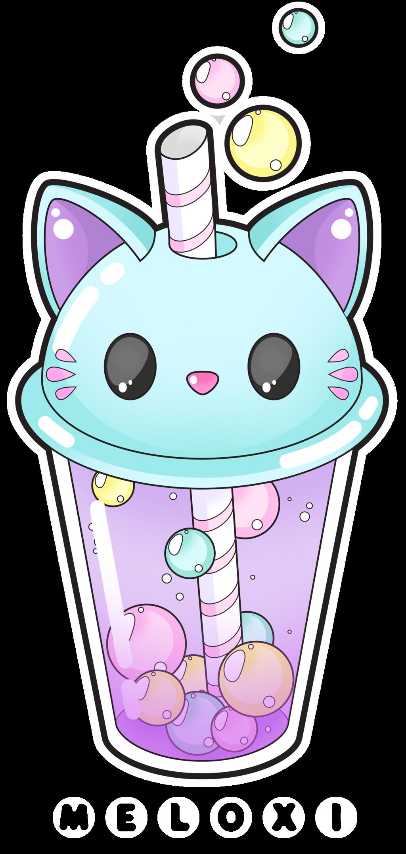 Cute Cat Bubble Tea Commissions Open By Meloxi On DeviantArt