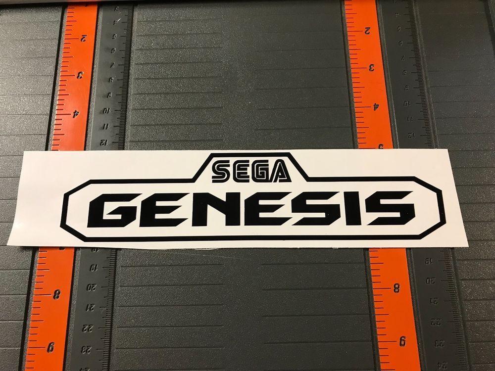 Retro Sega Genesis Logo Vinyl Sticker Car Decal Window Or Laptop Sonic Unbranded