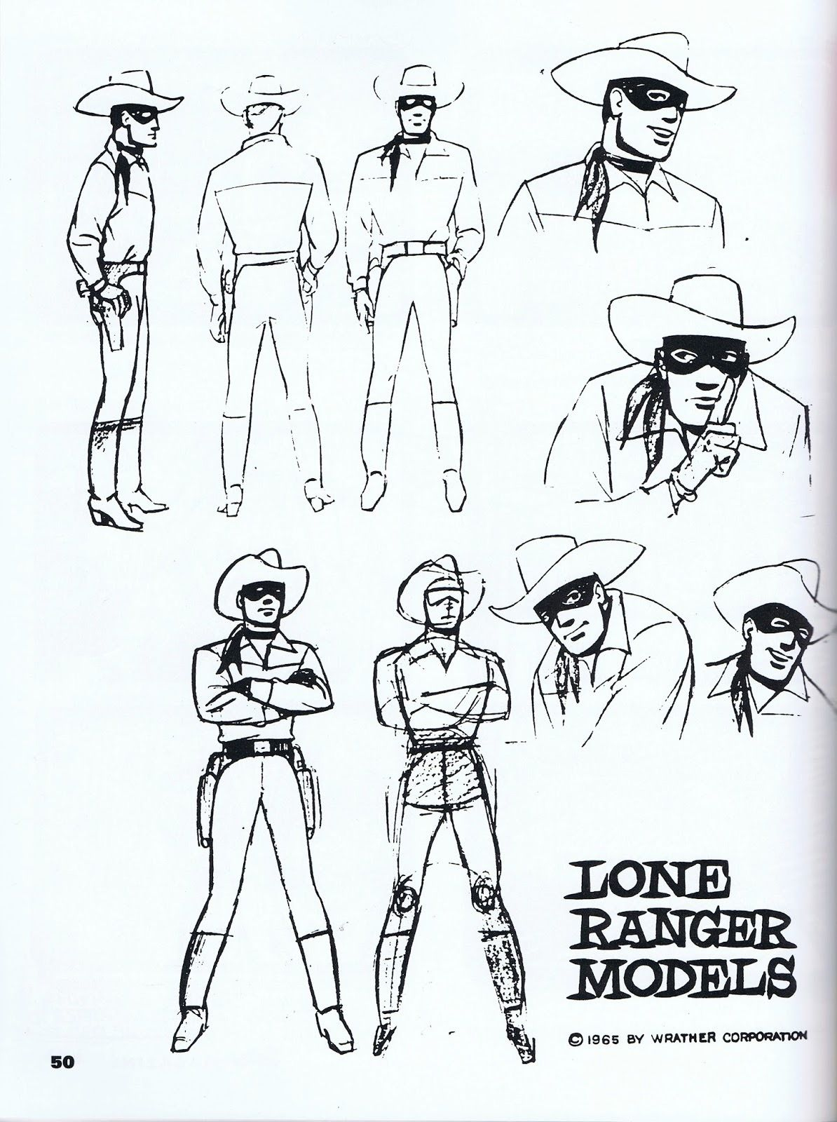 Production Art For The Pretty Weird 1966 Cartoon The Lone Ranger