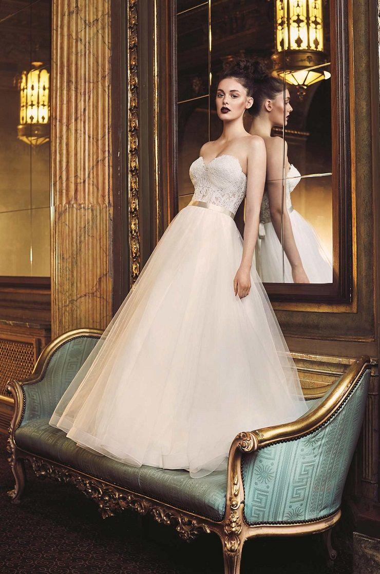 Paloma Blanca style 4704 wedding dress | French Alençon Lace and Tulle Wedding Dress | itakeyou.co.uk