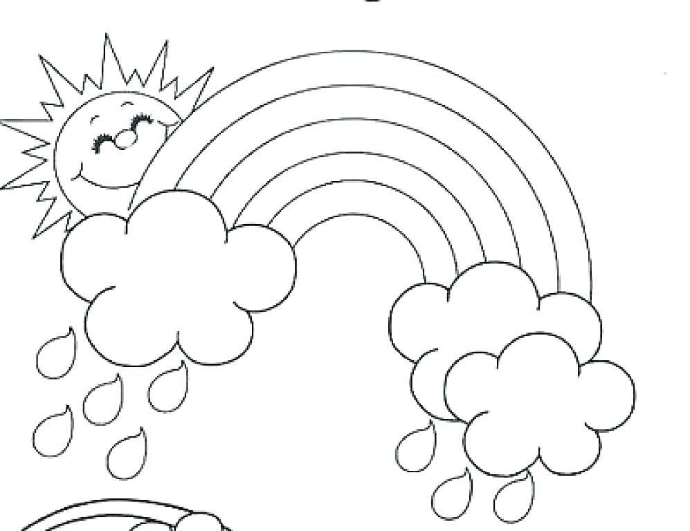 Dibujo De Arcoiris Imprimible Dibujos Del Pez Arcoiris Para