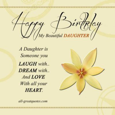Birthday cards for daughter cards pinterest birthdays happy birthday cards for daughter m4hsunfo