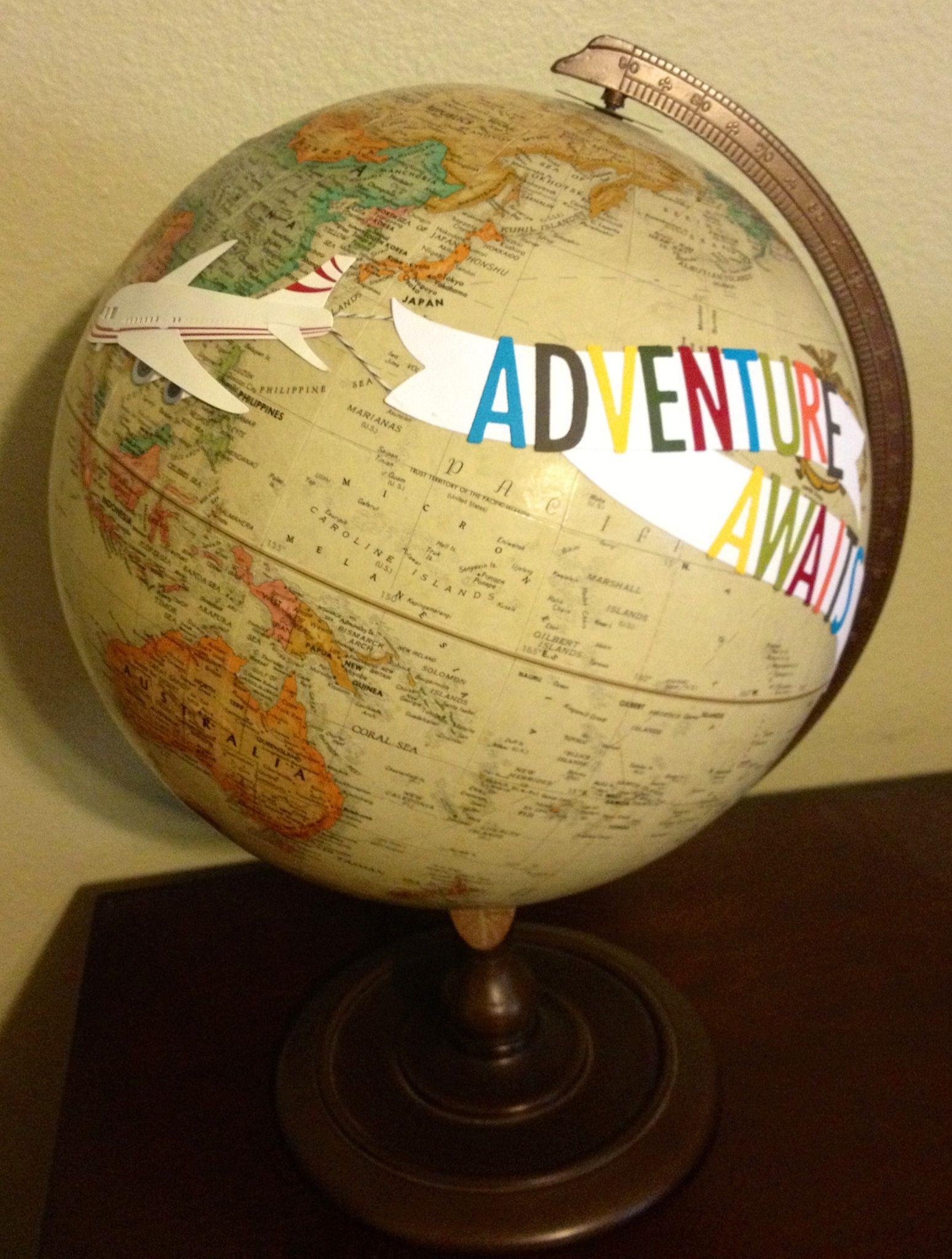 Altered Globe For Travel Themed Baby Shower Using Qk